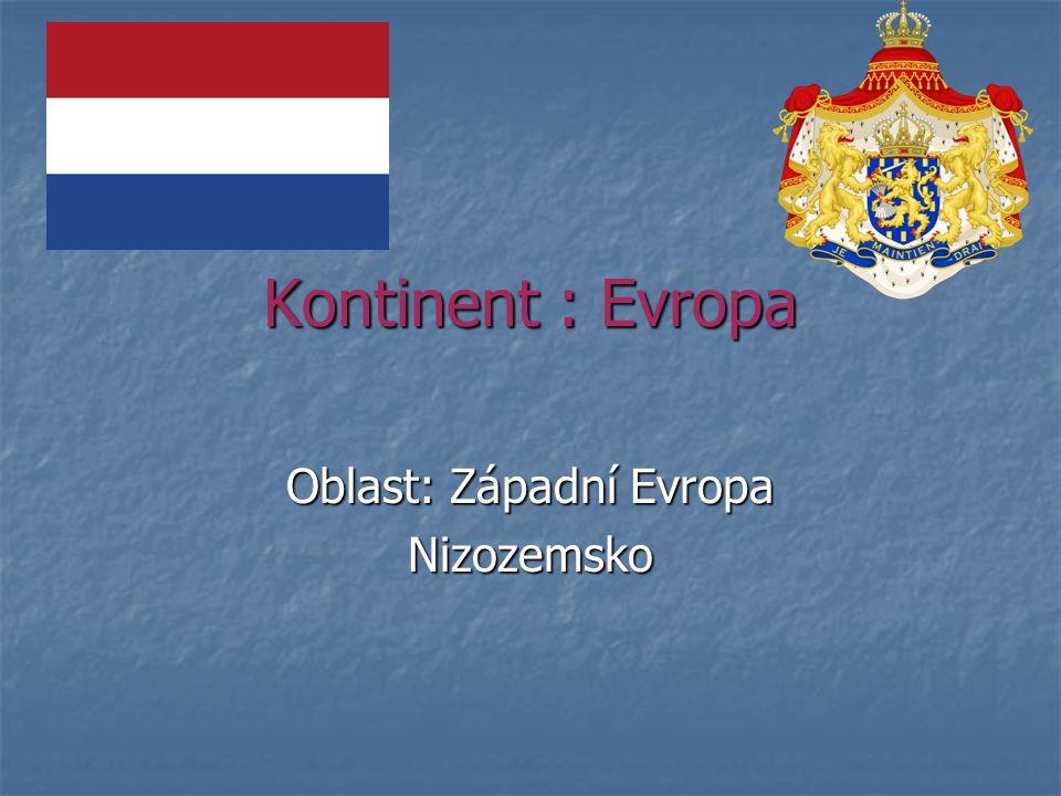 Oblast: Západní Evropa Nizozemsko