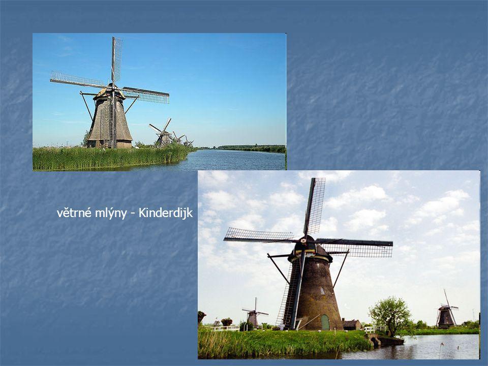 větrné mlýny - Kinderdijk