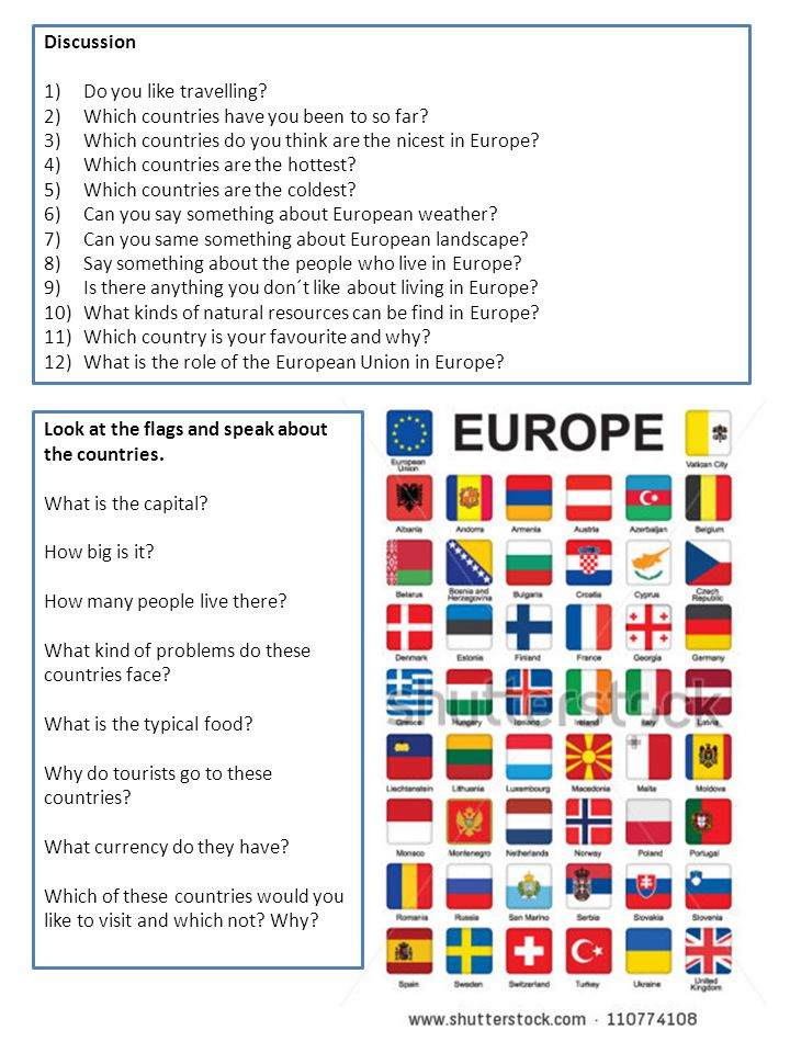 Discussion Do you like travelling Which countries have you been to so far Which countries do you think are the nicest in Europe