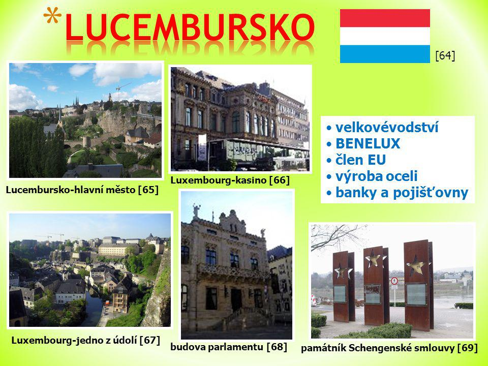 LUCEMBURSKO velkovévodství BENELUX člen EU výroba oceli