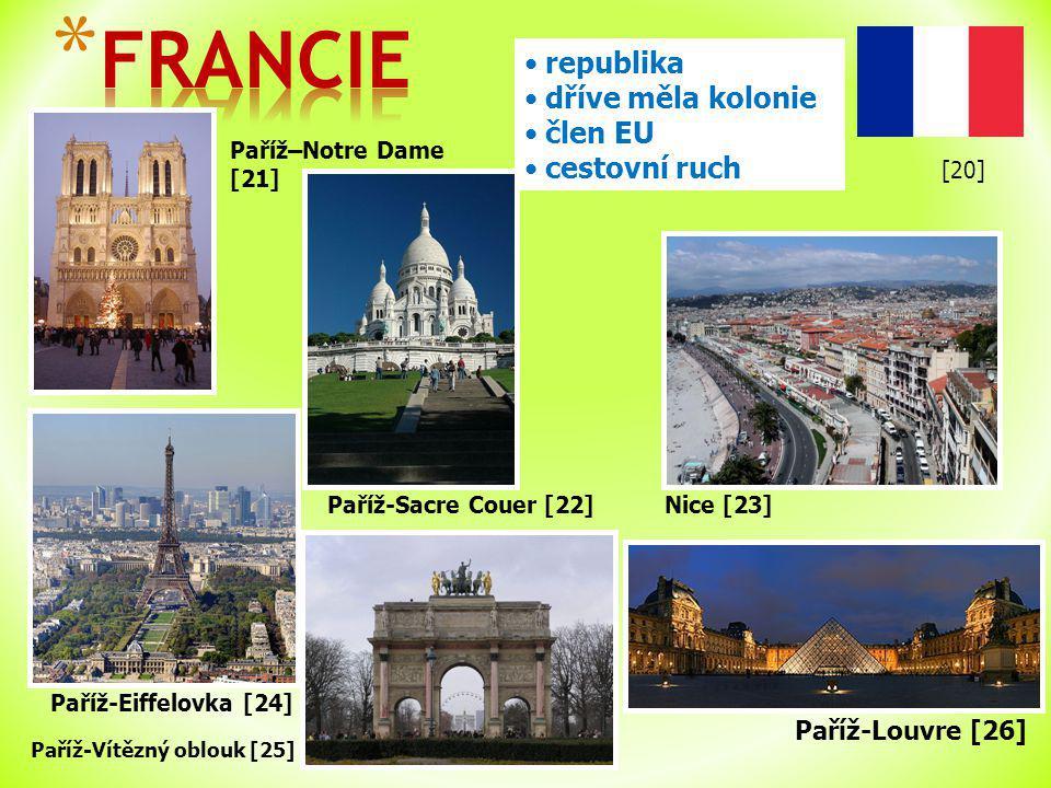FRANCIE republika dříve měla kolonie člen EU cestovní ruch
