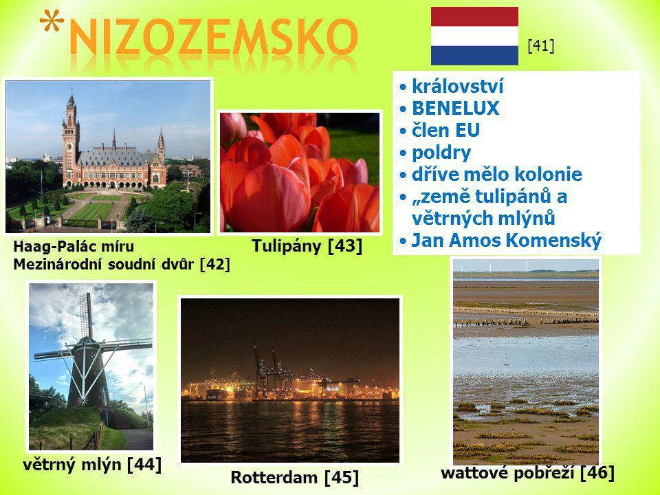 NIZOZEMSKO království BENELUX člen EU poldry dříve mělo kolonie