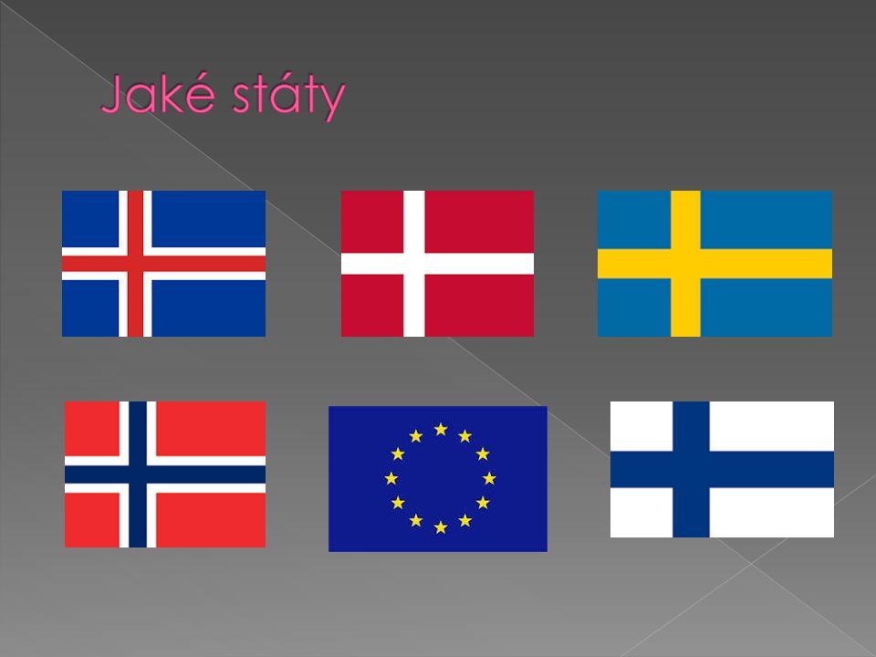 Jaké státy Švédsko Island Dánsko Finsko Norsko Evropská Unie