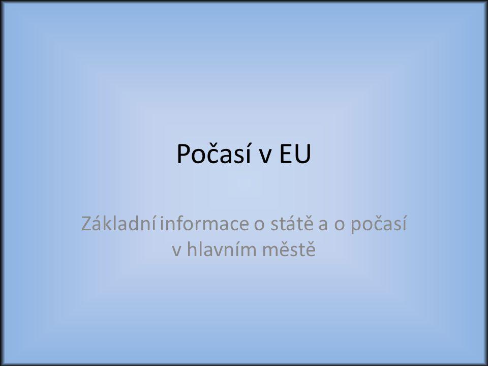 Základní informace o státě a o počasí v hlavním městě
