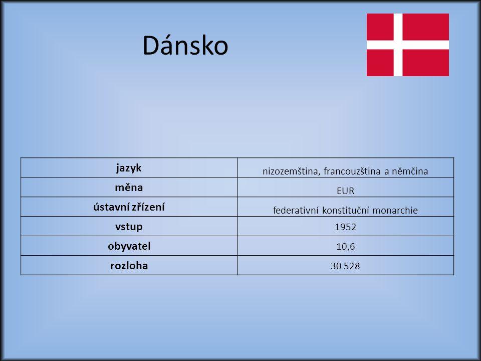 Dánsko jazyk měna ústavní zřízení vstup obyvatel rozloha