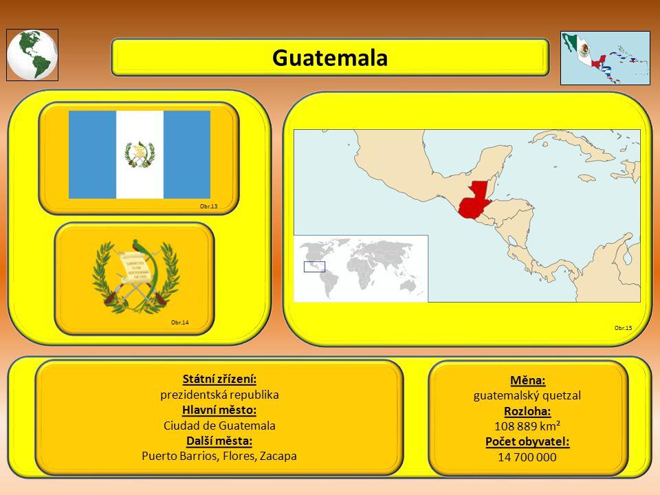 Guatemala Státní zřízení: Měna: prezidentská republika