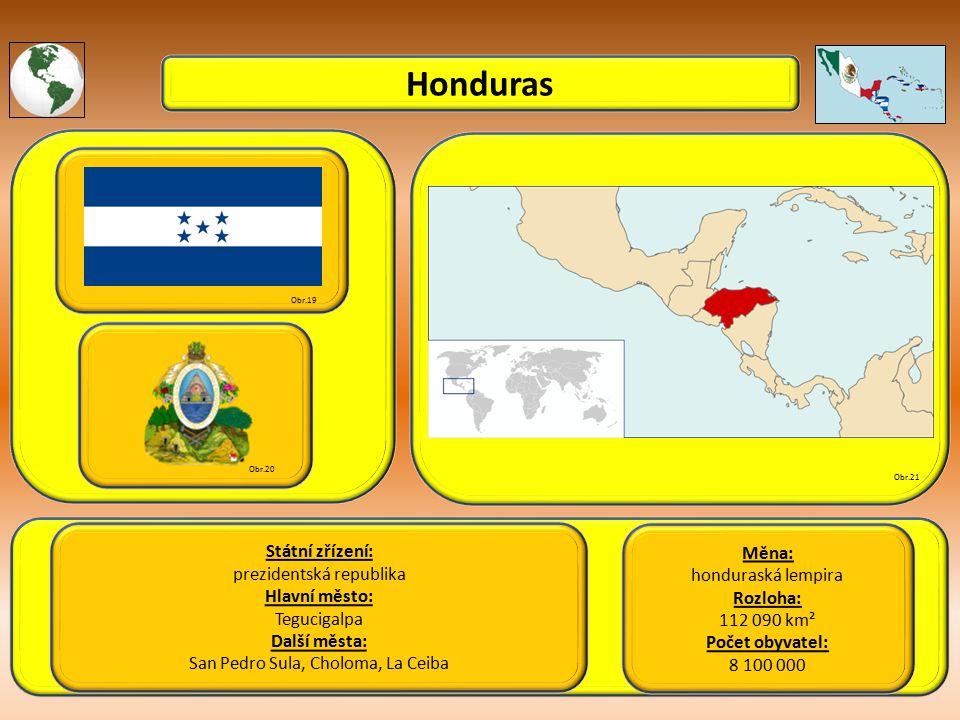 Honduras Státní zřízení: Měna: prezidentská republika