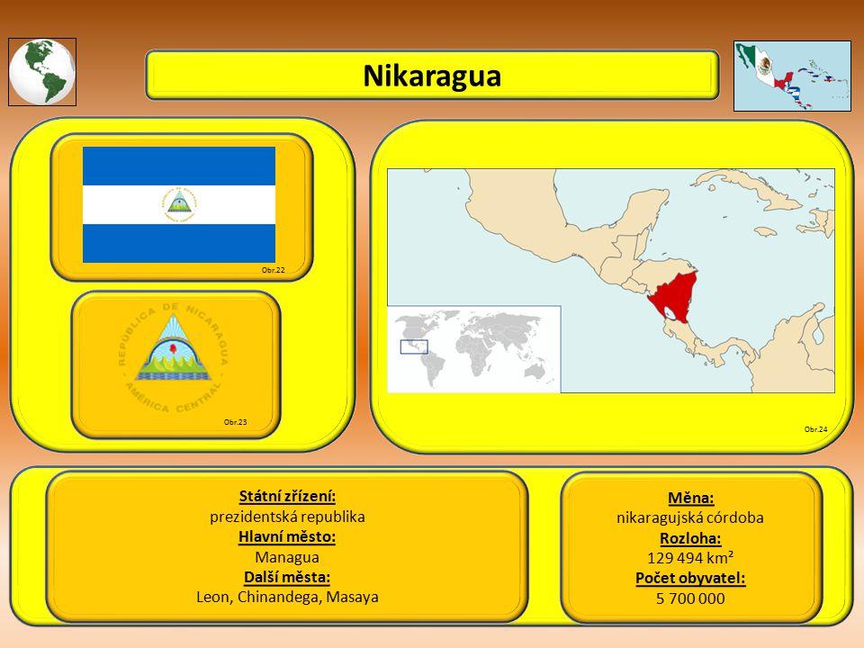 Nikaragua Státní zřízení: Měna: prezidentská republika