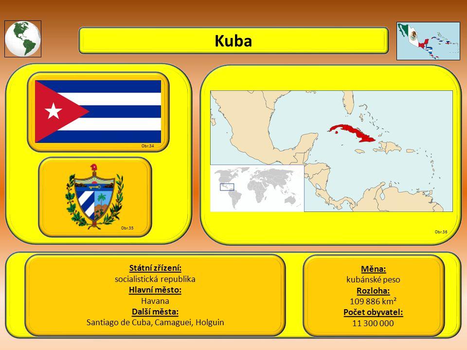 Kuba Státní zřízení: Měna: socialistická republika kubánské peso