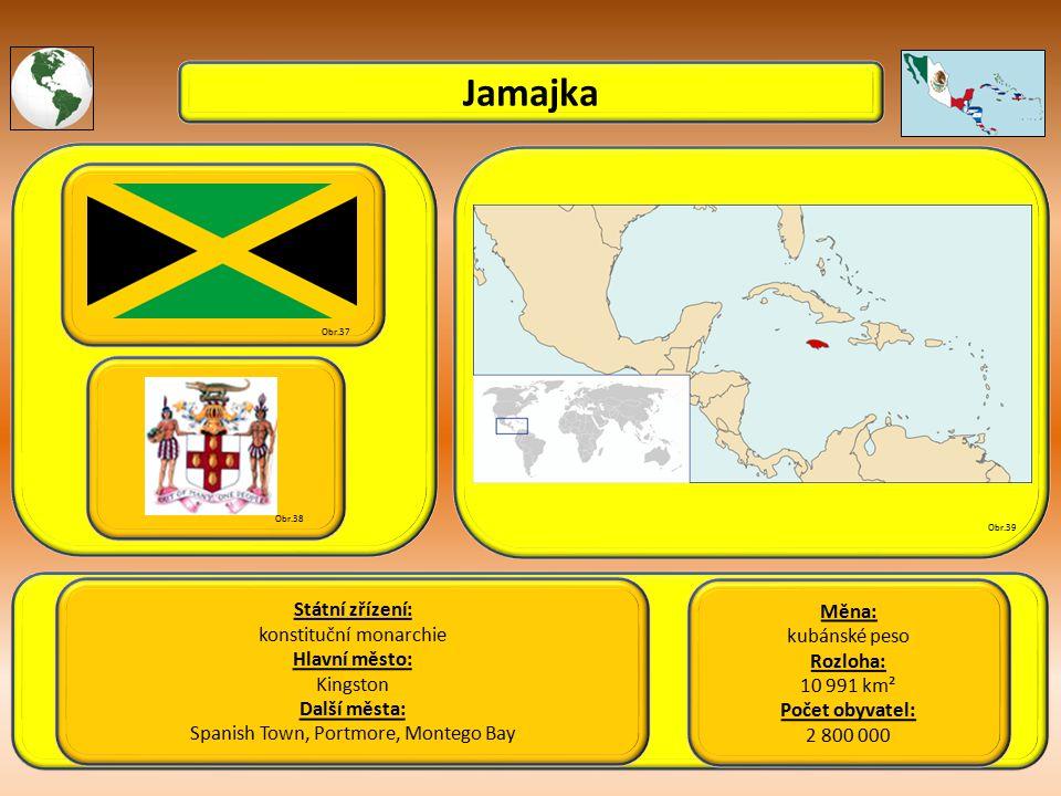 Jamajka Státní zřízení: Měna: konstituční monarchie kubánské peso