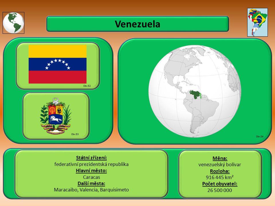 Venezuela Státní zřízení: Měna: federativní prezidentská republika