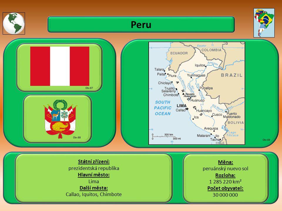 Peru Státní zřízení: Měna: prezidentská republika peruánský nuevo sol