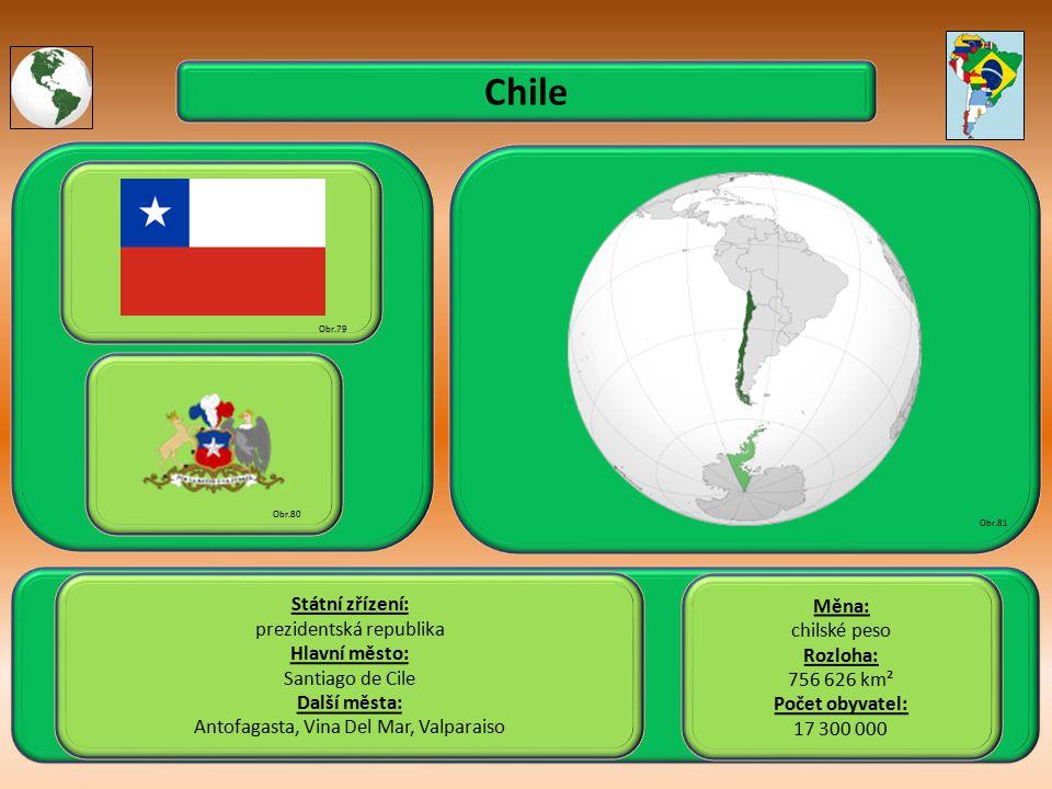 Chile Státní zřízení: Měna: prezidentská republika chilské peso