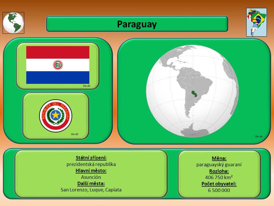 Paraguay Státní zřízení: Měna: prezidentská republika