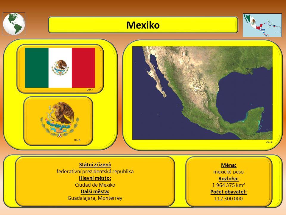Mexiko Státní zřízení: Měna: federativní prezidentská republika