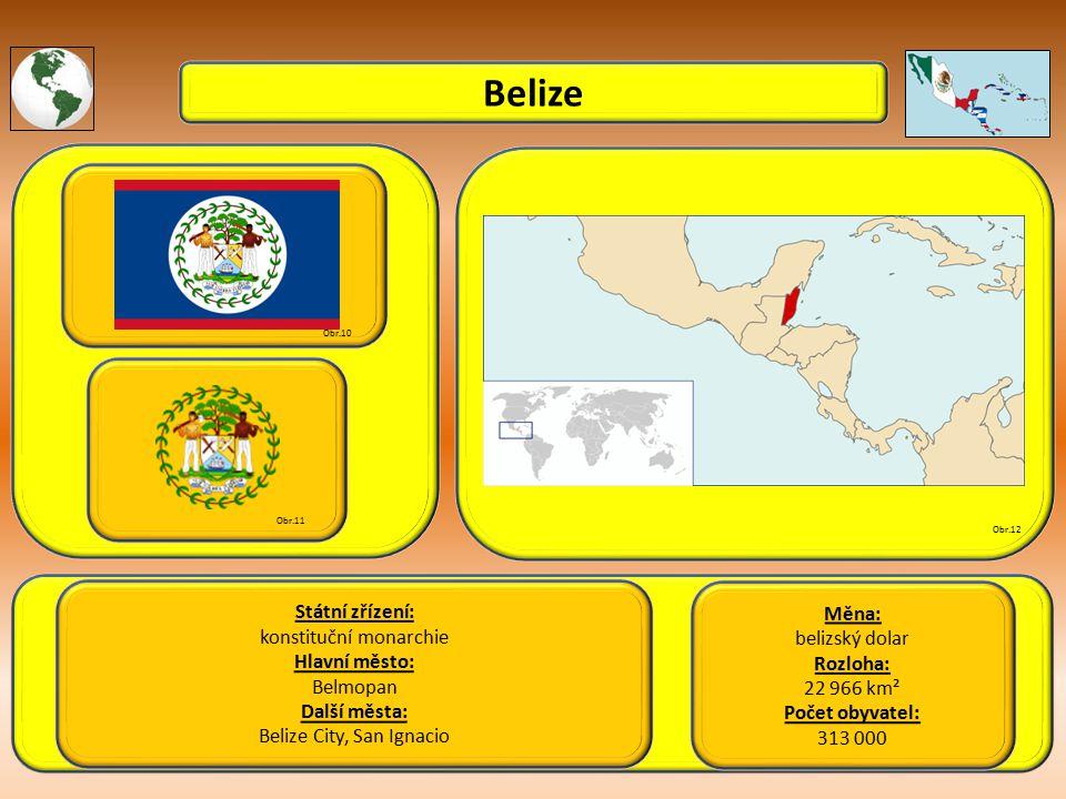 Belize Státní zřízení: Měna: konstituční monarchie belizský dolar