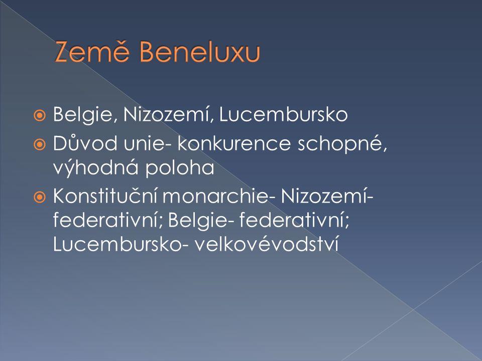 Země Beneluxu Belgie, Nizozemí, Lucembursko