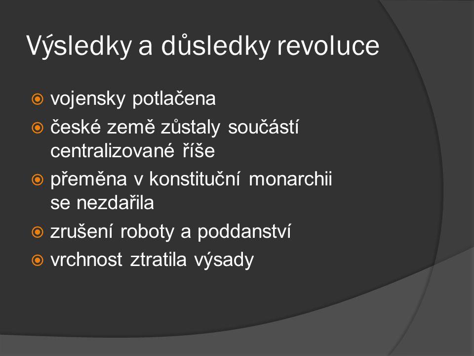 Výsledky a důsledky revoluce