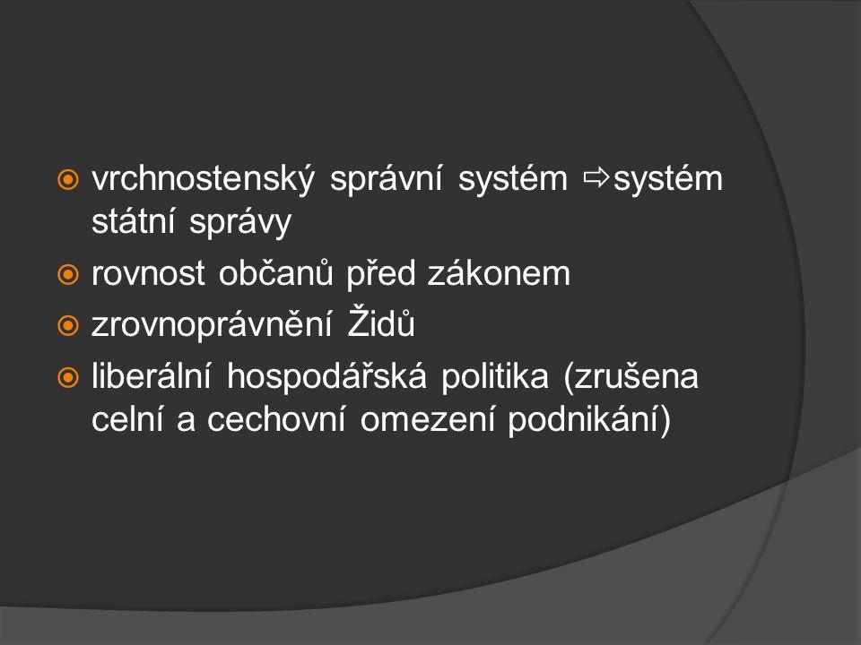 vrchnostenský správní systém systém státní správy