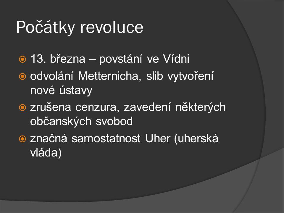 Počátky revoluce 13. března – povstání ve Vídni