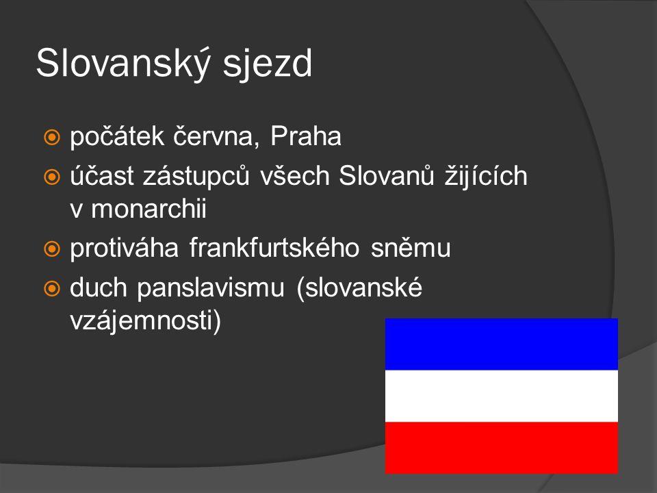 Slovanský sjezd počátek června, Praha