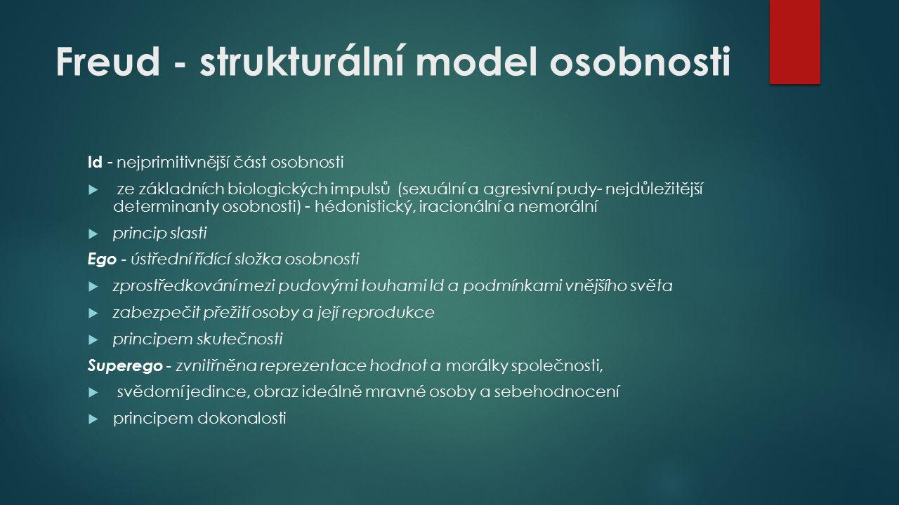Freud - strukturální model osobnosti