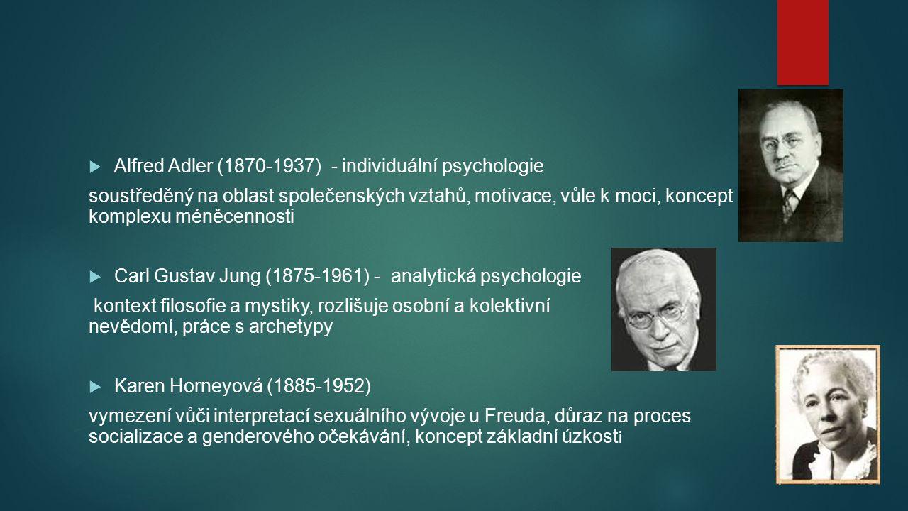 Alfred Adler (1870-1937) - individuální psychologie