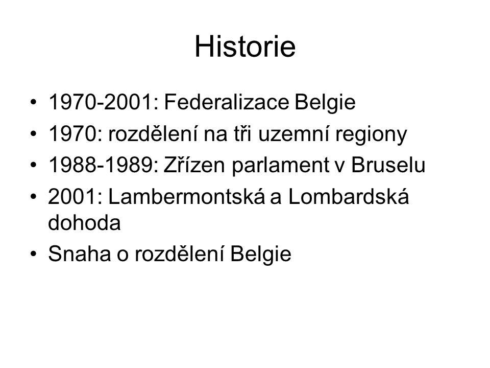 Historie 1970-2001: Federalizace Belgie