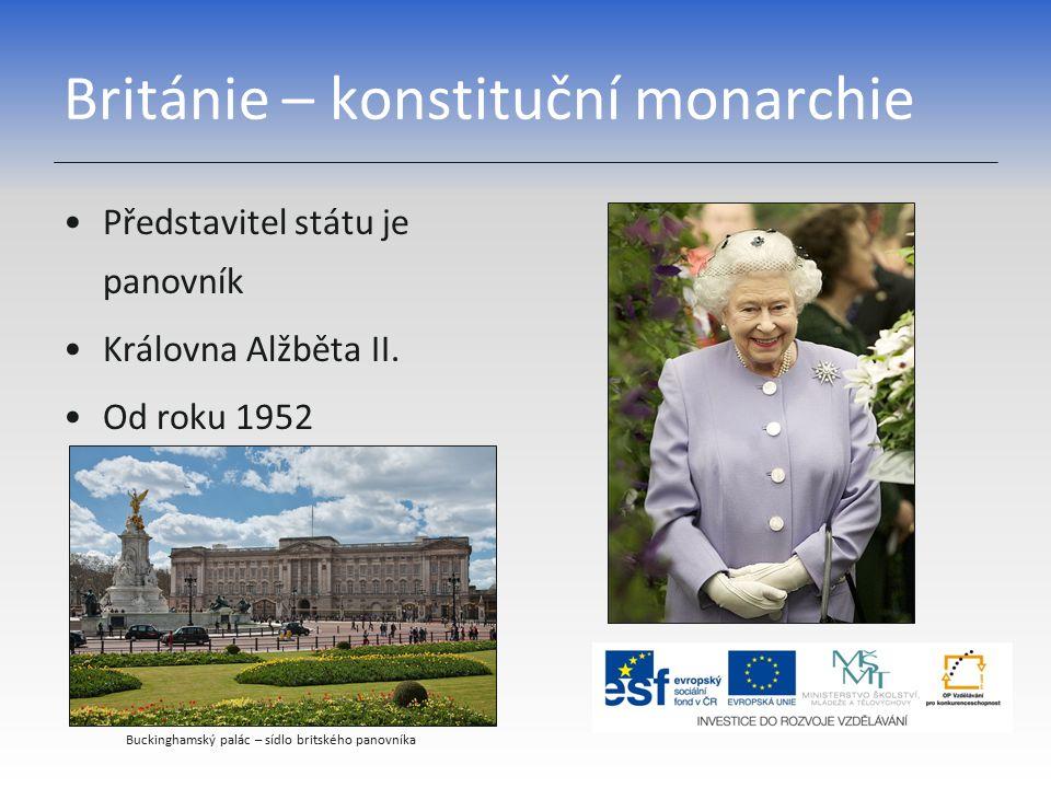 Británie – konstituční monarchie