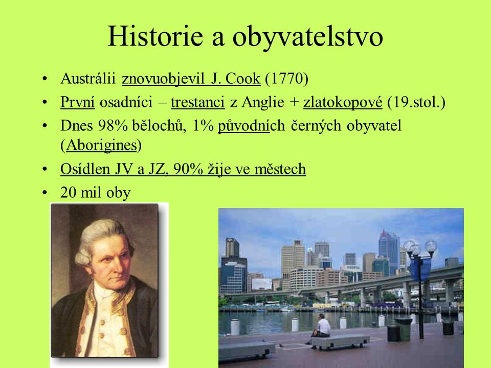 Historie a obyvatelstvo