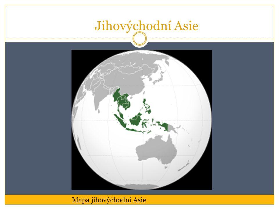Jihovýchodní Asie Mapa jihovýchodní Asie
