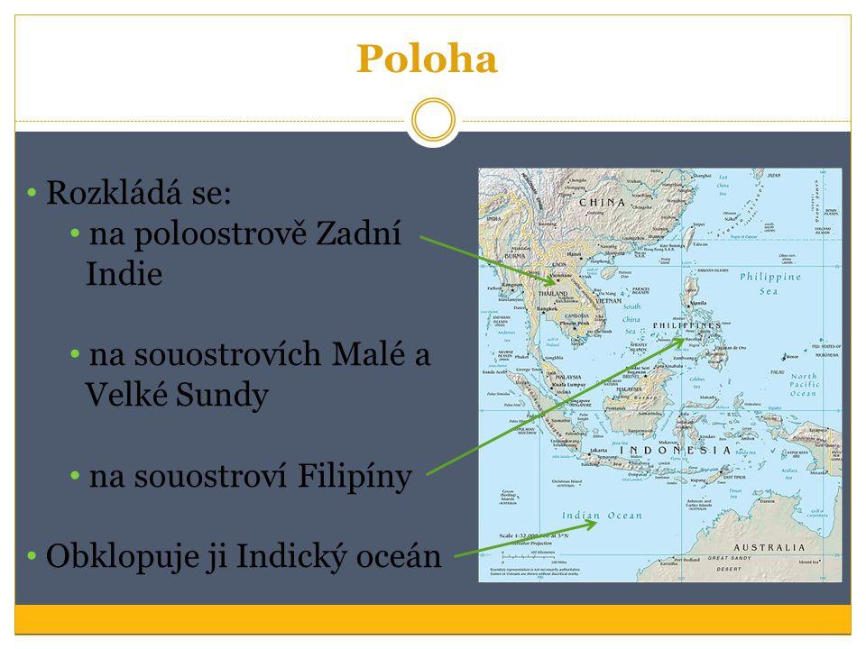 Poloha Rozkládá se: na poloostrově Zadní Indie na souostrovích Malé a