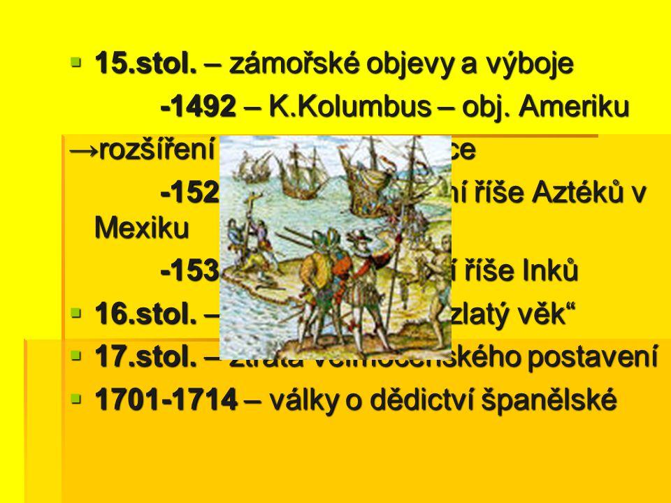 15.stol. – zámořské objevy a výboje