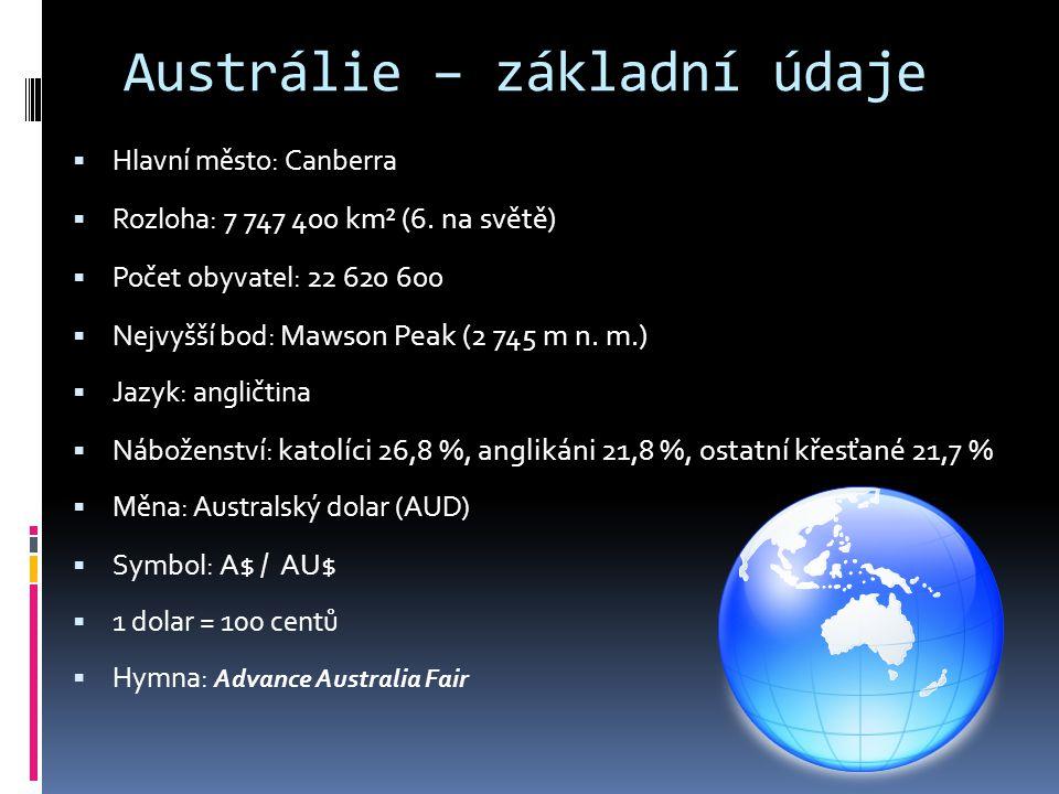 Austrálie – základní údaje