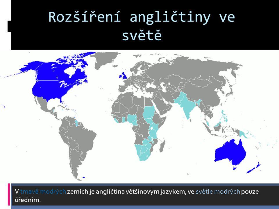 Rozšíření angličtiny ve světě
