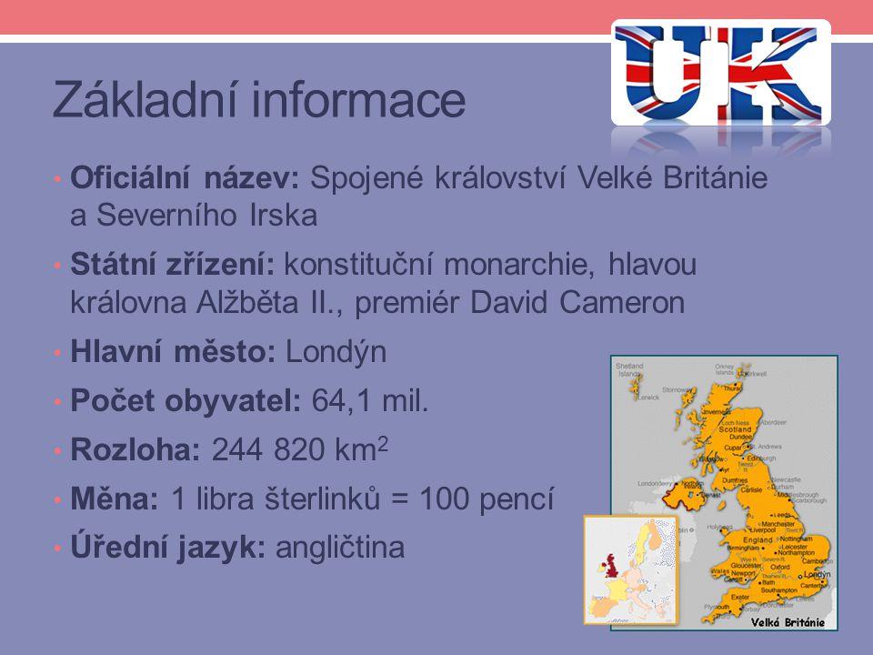 Základní informace Oficiální název: Spojené království Velké Británie a Severního Irska.