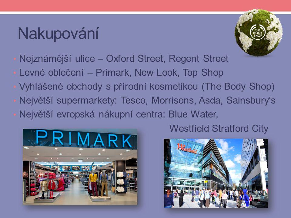 Nakupování Nejznámější ulice – Oxford Street, Regent Street