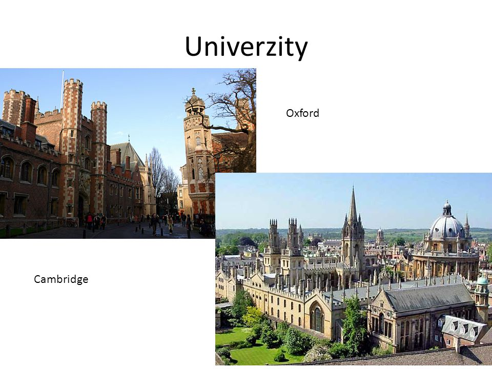 Univerzity Oxford Cambridge