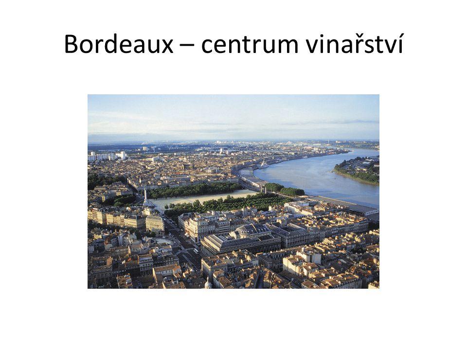 Bordeaux – centrum vinařství