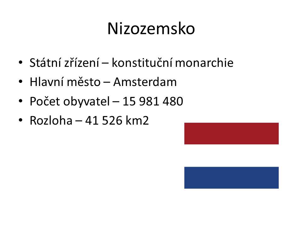 Nizozemsko Státní zřízení – konstituční monarchie