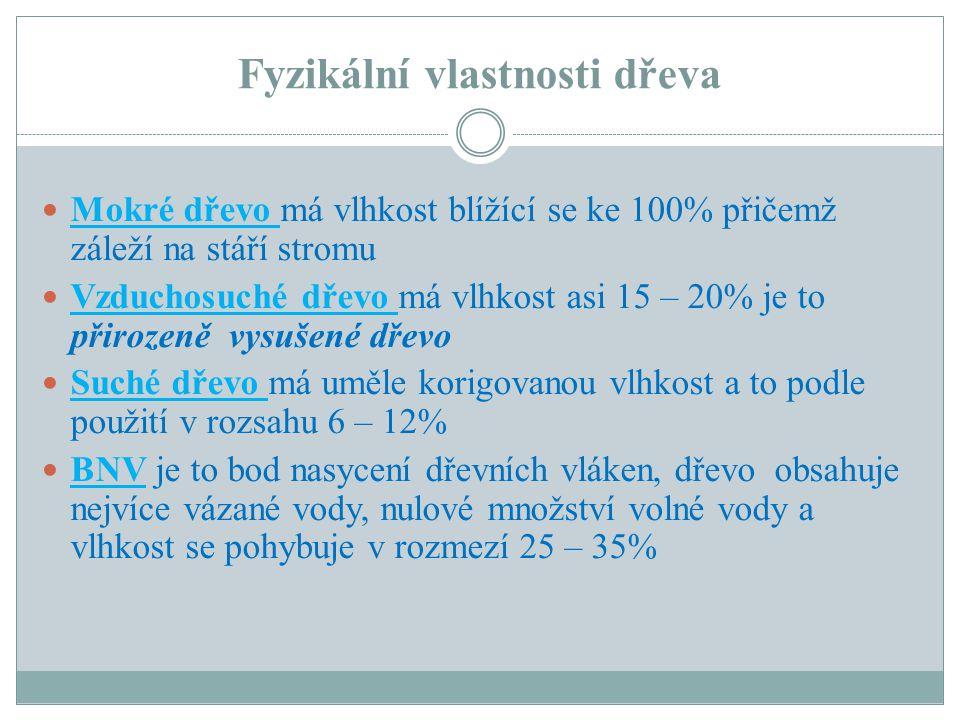 Fyzikální vlastnosti dřeva