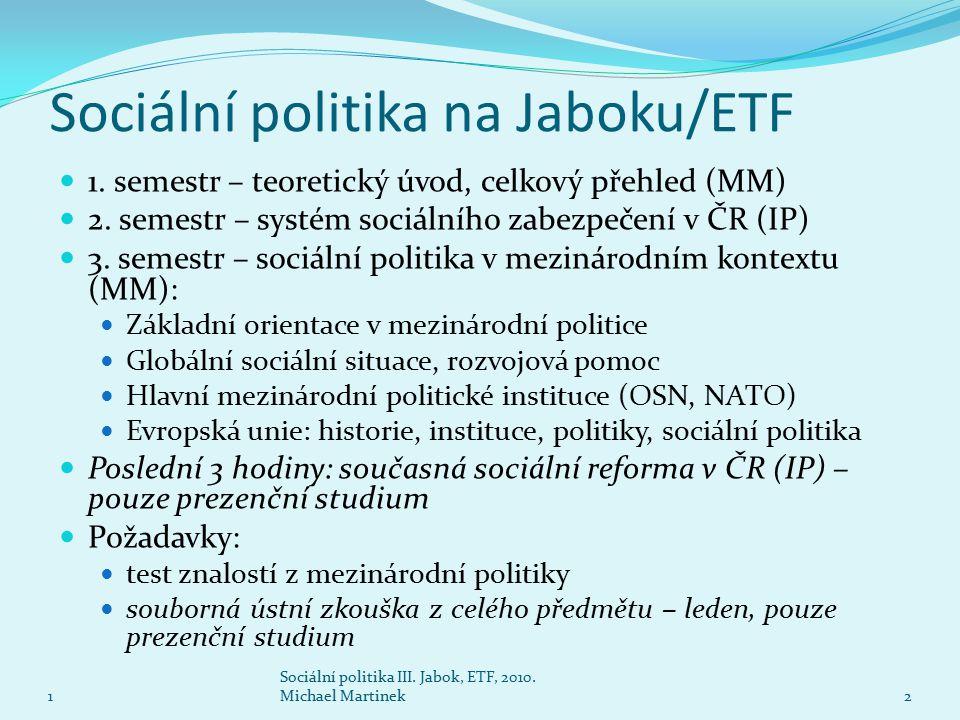 Sociální politika na Jaboku/ETF