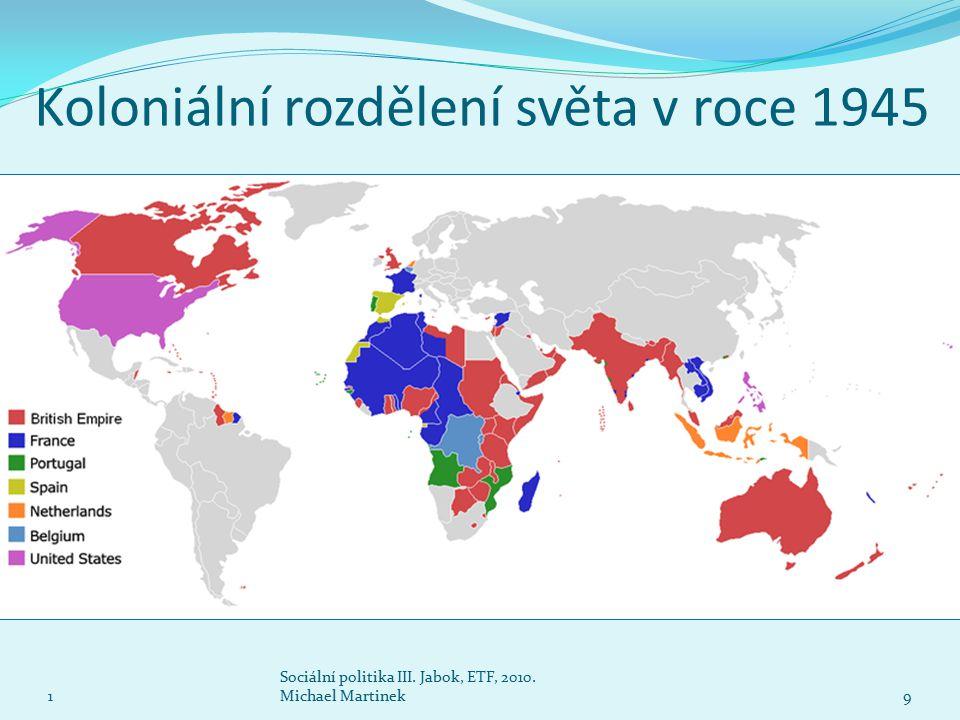Koloniální rozdělení světa v roce 1945