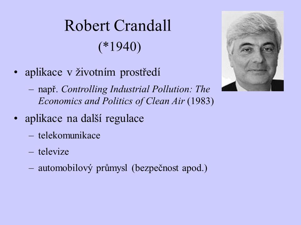 Robert Crandall (*1940) aplikace v životním prostředí