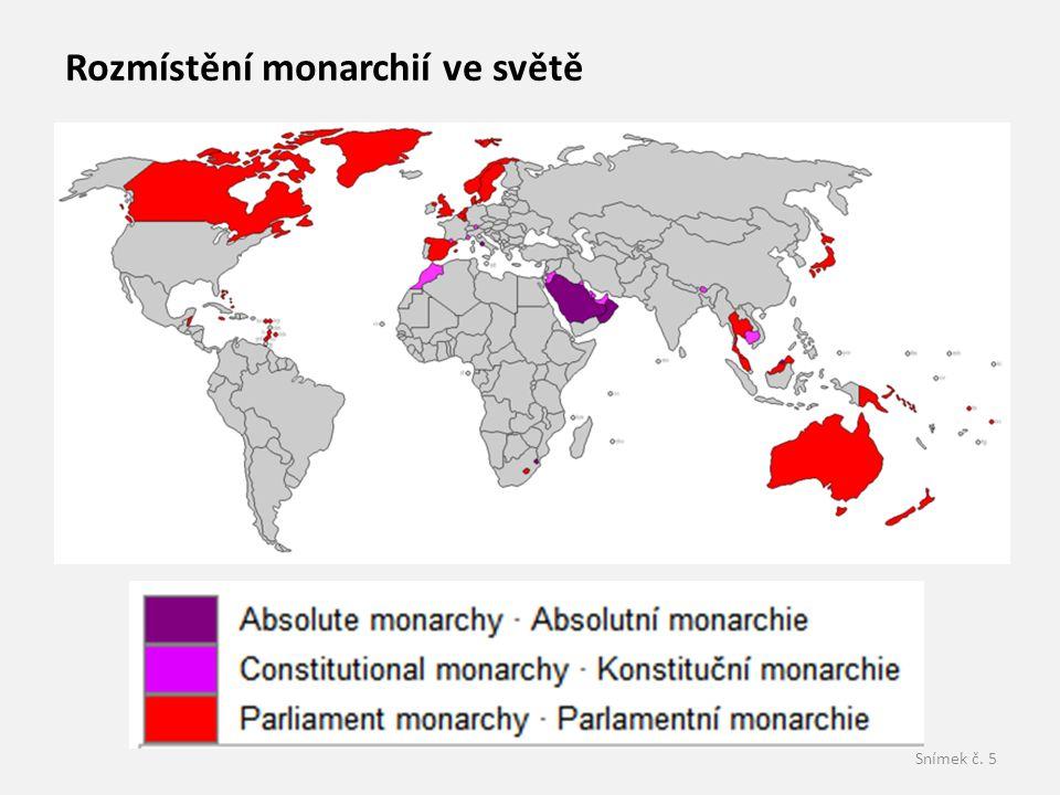 Rozmístění monarchií ve světě