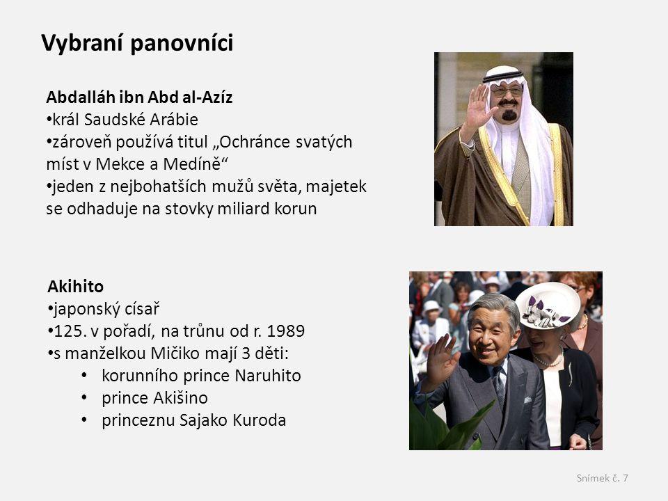 Vybraní panovníci Abdalláh ibn Abd al-Azíz král Saudské Arábie
