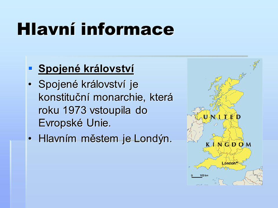 Hlavní informace Spojené království