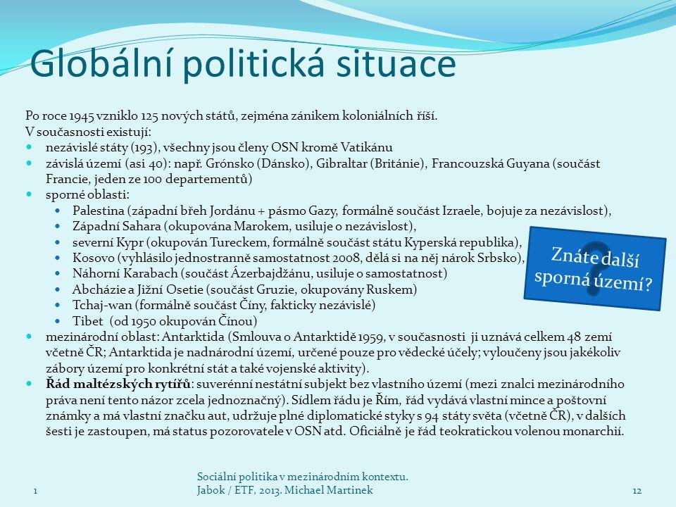 Globální politická situace