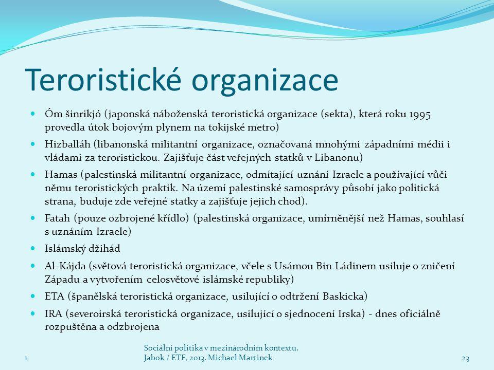 Teroristické organizace