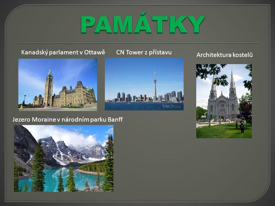 PAMÁTKY Kanadský parlament v Ottawě CN Tower z přístavu